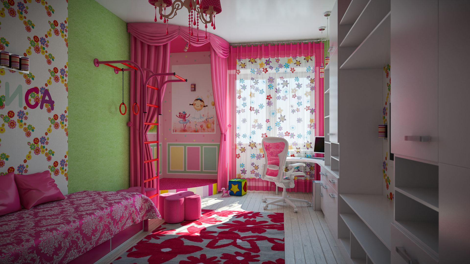 Обои Для Детской Комнаты Девушки